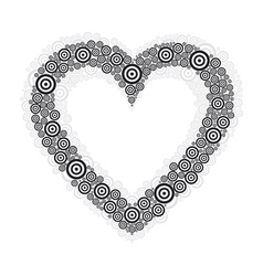 Heart black circle vector
