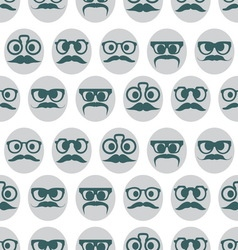 Hipster smiley seamless pattern3 resize vector image