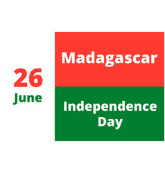 Independence day of madagascar vector