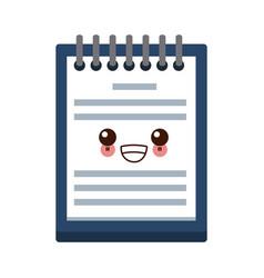 kawaii delivery calendar day agenda plan vector image