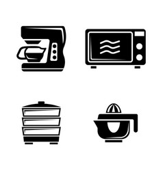 kitchen accessories simple related icons vector image vector image