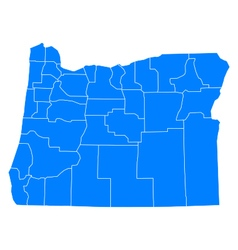 Map of Oregon vector image