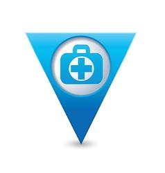 Medical icon pointer blue vector