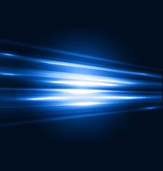 modern blue transparent hi-tech speed of light vector image