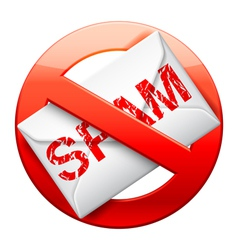 No spam sign vector image
