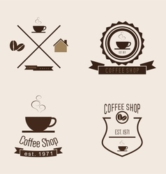 Set of Coffee Shop Logo vector image vector image