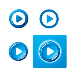 Set of play button vector image