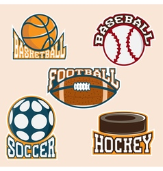 set of vintage sport labels and elements vector image vector image