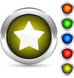 Star button vector image