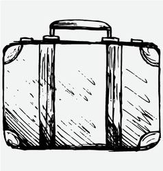Suitcase travel vector