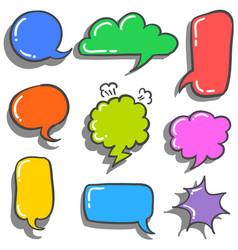 text balloon style doodles vector image vector image