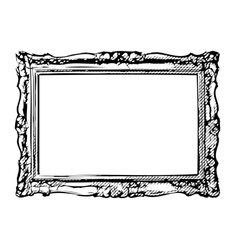 The antique frame vector image