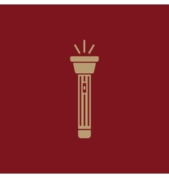 The flashlight icon torch symbol flat vector
