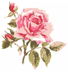 Trace of elegant rose vector
