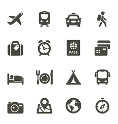 Traveling and transport icons vector
