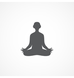 Yoga icon vector image