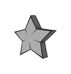 Geometrical figure of five pointed stars icon vector