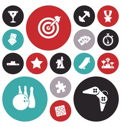 Icons for leisure and sport vector
