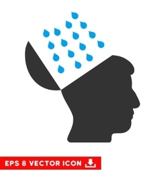 Brain Shower Eps Icon vector image