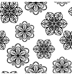 Seamless pattern with stylized flowers vector