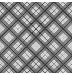 Black White Tartan Diamond Background vector image