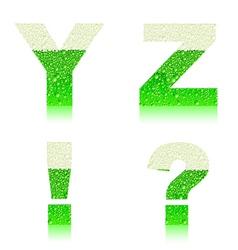 alphabet green beer YZ vopr voskl vector image