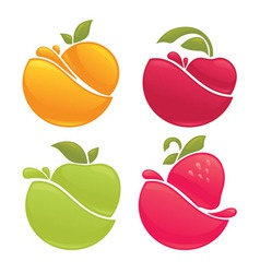 Fruit splashes vector