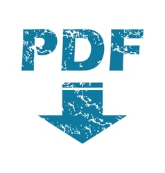 Grunge pdf download icon vector