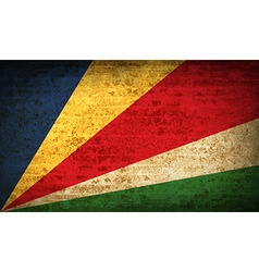 Flags seychelles with dirty paper texture vector