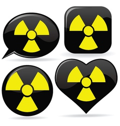 radioactive signs vector image