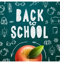 Welcome back to school sale background vector image