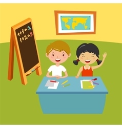 Kids school geography lessons vector