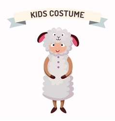 Sheep kid costume isolated vector