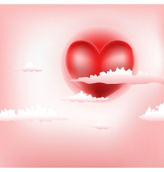 love sky vector image
