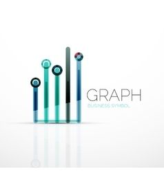 Abstract logo idea linear chart or graph vector