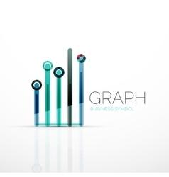 Abstract logo idea linear chart or graph vector