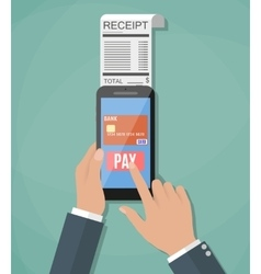 Concept of mobile payment vector
