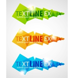 Color square headers vector