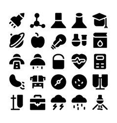 Science icons 10 vector image