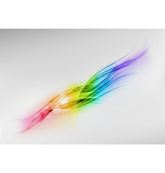 background rainbow shine center vector image