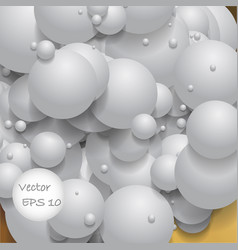Ball of white spheres abstract 3d render vector
