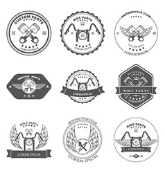 Bikers Repair Service Emblems Collection vector image vector image