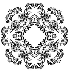 Black oriental ottoman design twelve vector