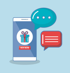 Buy now in the cellphone order chatting online vector