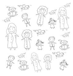 cartoon concept happy people vector image vector image