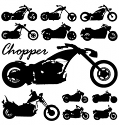 Chopper motorcycles vector
