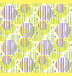 concept modern geometry hexagone pattern in green vector image vector image