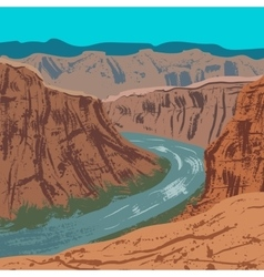 Grand Canyon National Park vector image