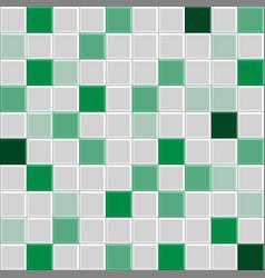 green tile texture vector image vector image