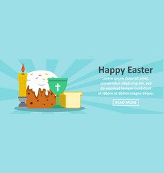 happy easter banner horizontal concept vector image vector image